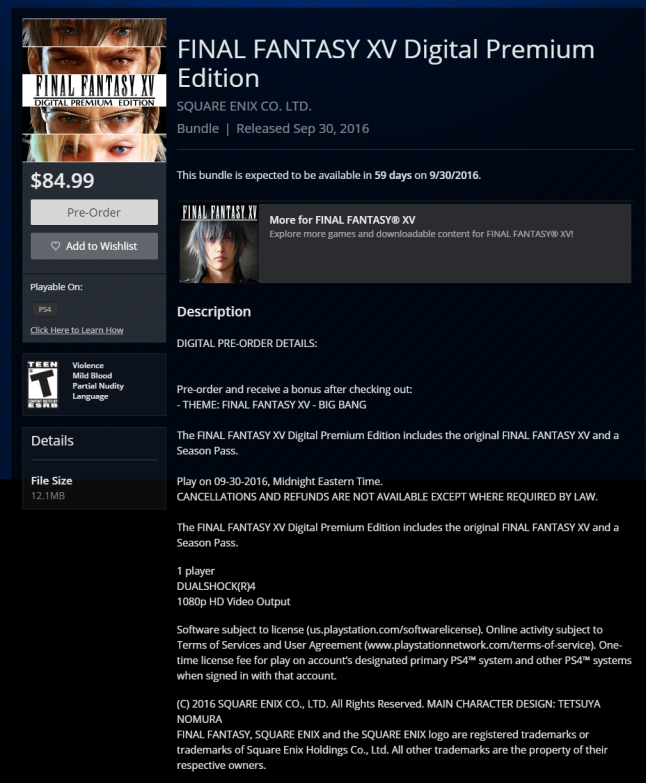 FINAL FANTASY XV Digital Premium Edition on PS4   Official PlayStation Store US.png
